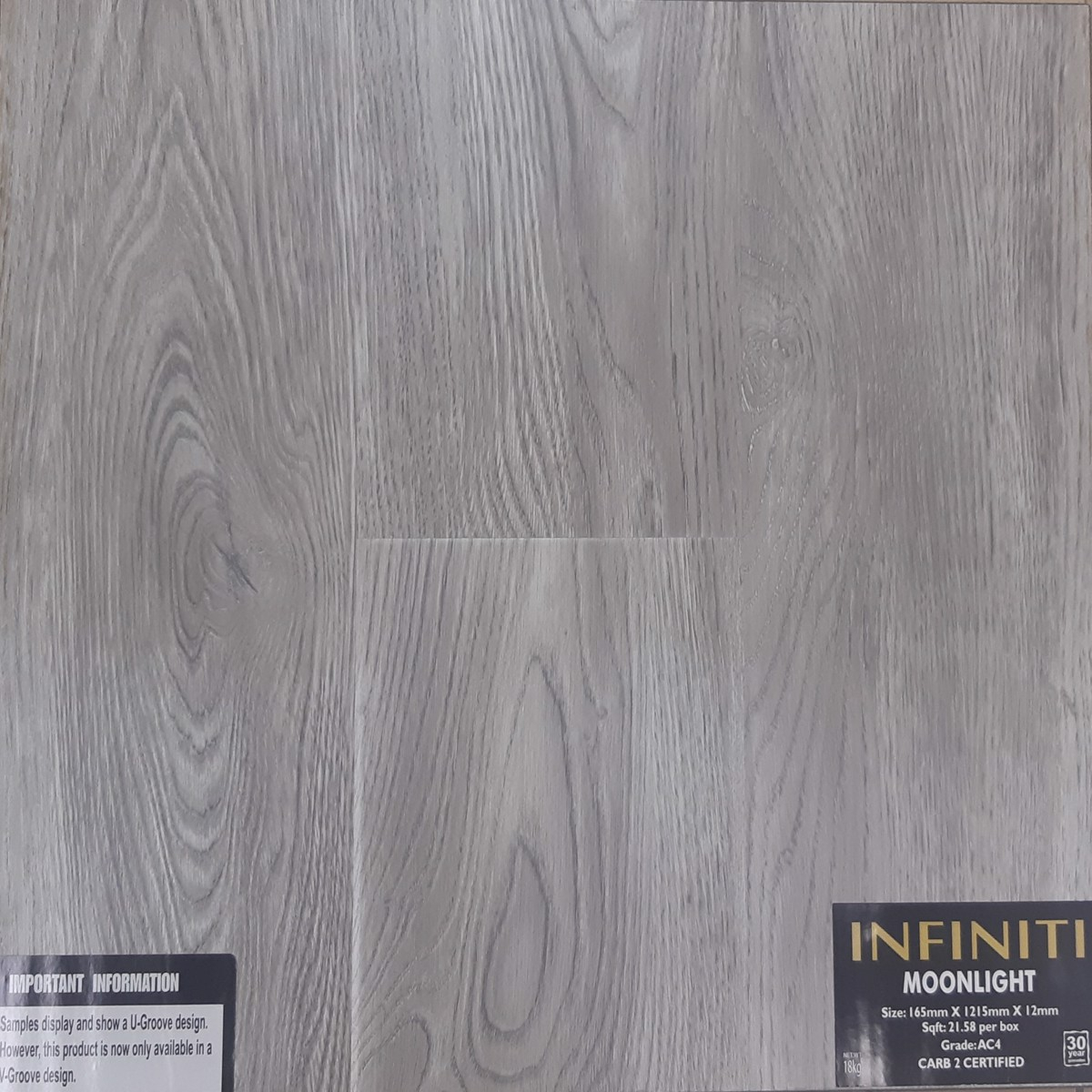 Infiniti Moonlight Laminate Flooring 6, Carb Laminate Flooring