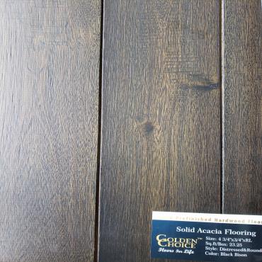 "hardwood 4-3/4"" Black Bison Acacia Solid Hardwood Flooring"