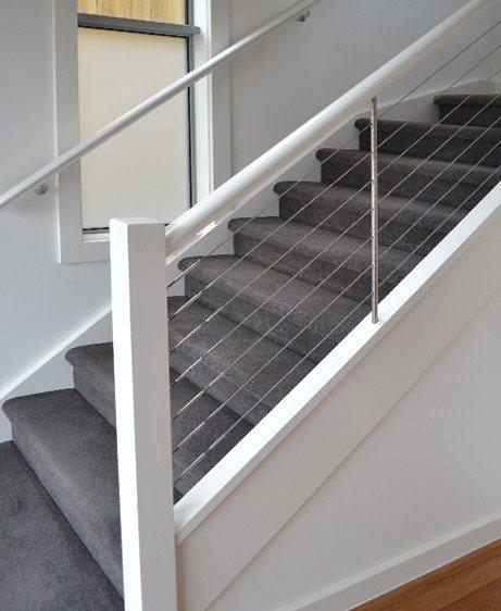 Wire Balustrade Staircase Renovation in Toronto (GTA), Brampton, Oakville